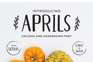 Aprils Sans Handdrawn Font