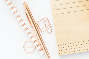 Styled Photo - Rose Gold Stationery