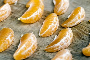 slices of tangerines