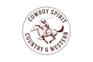 Cowboy Vintage Logo