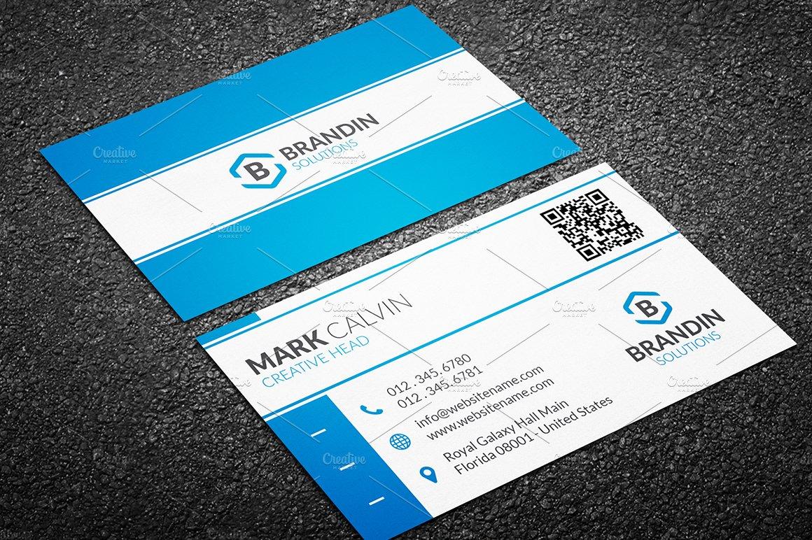 Modern business card template business card templates for Card creative