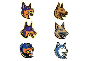 Guard Dogs Mascot Collection Set