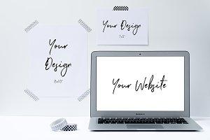 Graphic Designer Desk | 3 Mockups