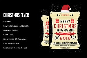 Merry Christmas Flyer Template