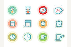 Time and Date Icons