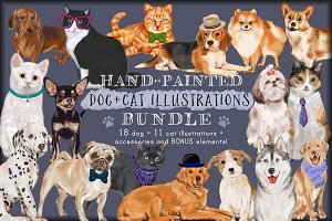 Dog & Cat Clip Art Bundle (20% Off!)