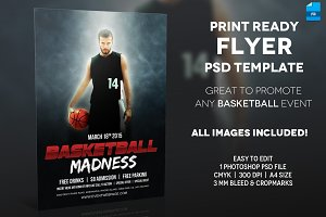 Basketball Event - A4 Flyer Template