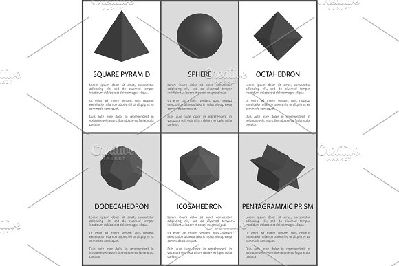 Sphere And Octahedron Pentagrammic Prism Figures