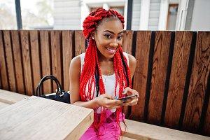 Fashionable african american girl