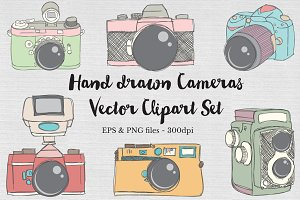 Hand drawn Vector Camera Images