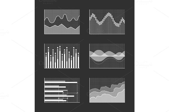 Charts With Business Information Colorless Set