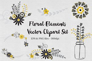 Floral Wreath Clipart Vectors