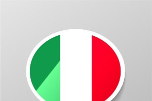 Speech bubble with Italy flag