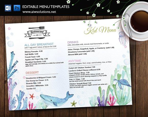 Restaurant Kid Menu-id35