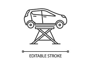 Car lift linear icon