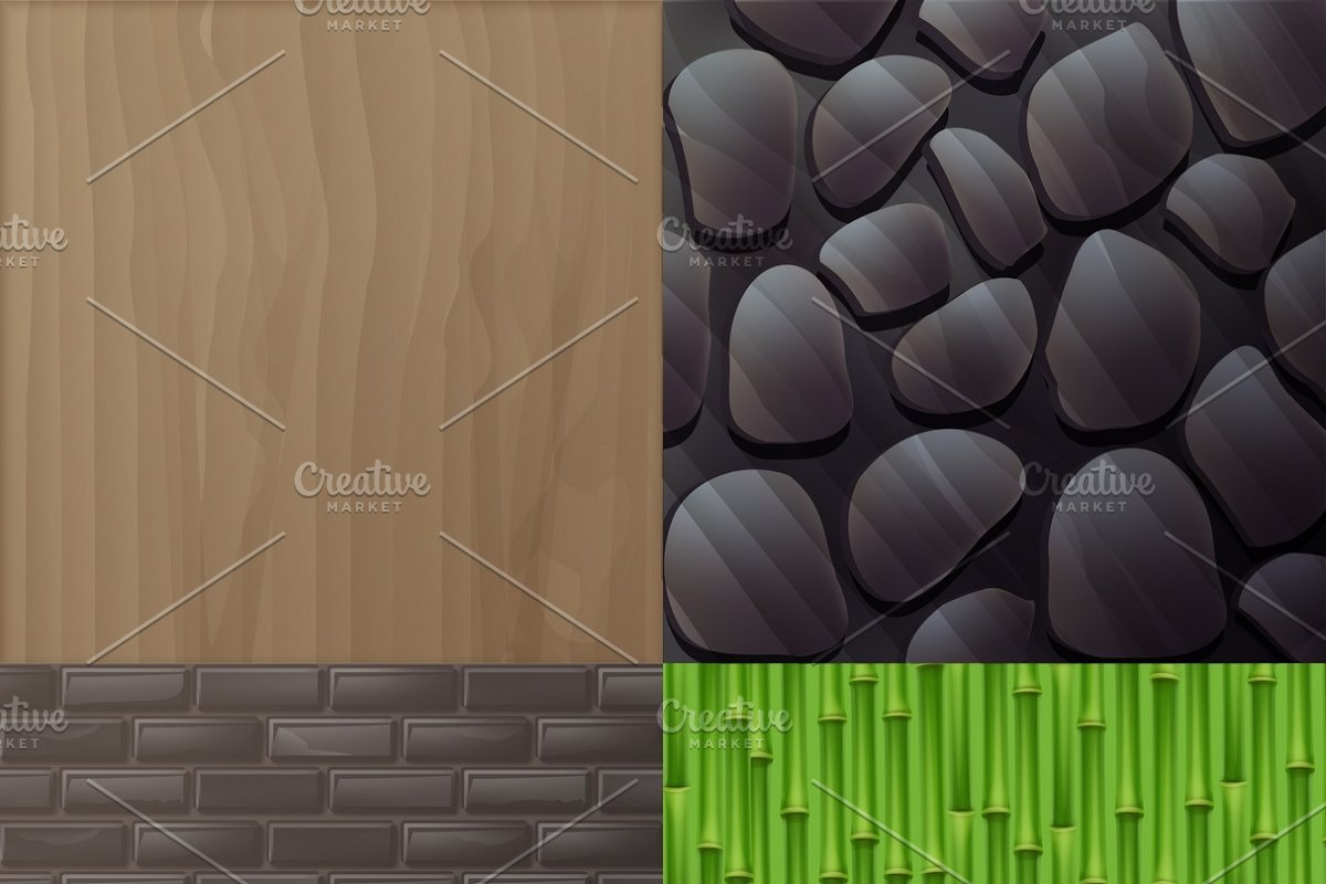 Set of textures for interior in Illustrations - product preview 8