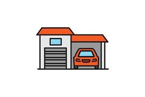 Garage color icon