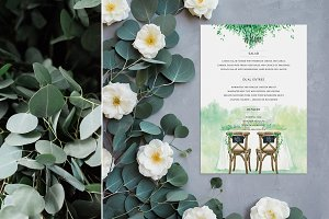 Rustic Wedding Menu Card