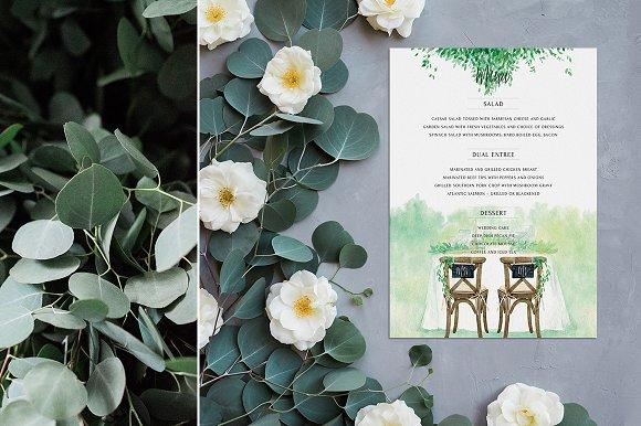 Rustic Wedding Menu Card
