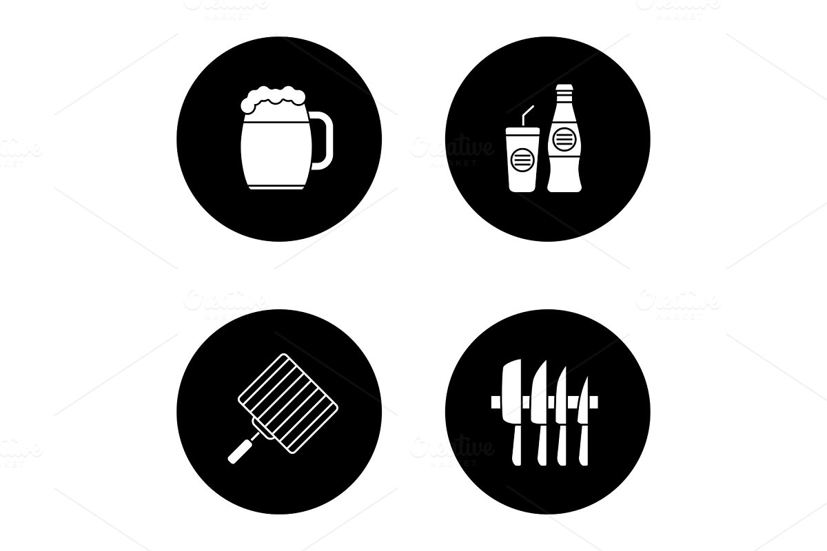 Barbecue glyph icons set in Icons - product preview 8