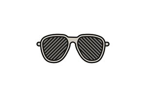 Louvered sunglasses color icon