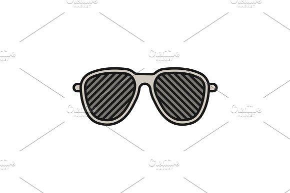 Louvered Sunglasses Color Icon