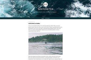 Writemeter theme for Tumblr