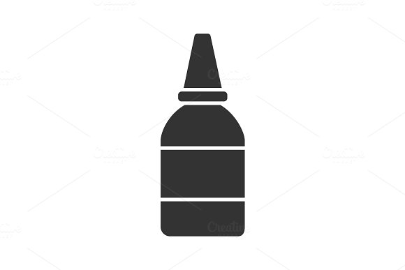 Eye Or Nasal Drops Glyph Icon