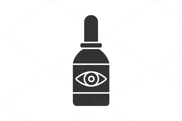 Eye Drops Glyph Icon