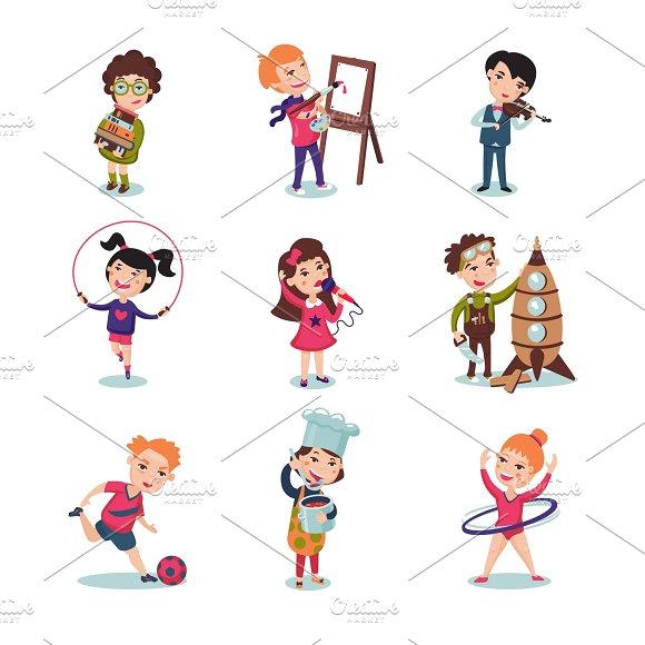 Children Hobbies Set