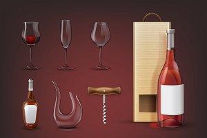 Set of equipment for wine