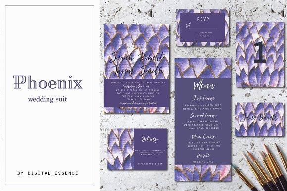 Violet Wedding Invitation Set