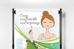 A3 Yoga Studio Poster Template