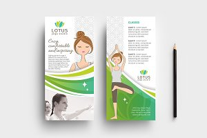 Yoga Studio DL Card Template
