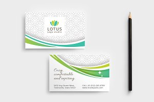 Yoga Studio Business Card Template