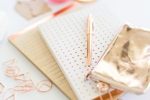 Styled Stock Photo - Notebooks & Pen