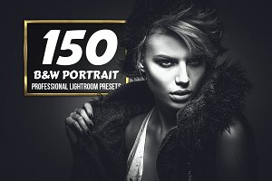 B&W Portrait - 150 Lightroom Presets