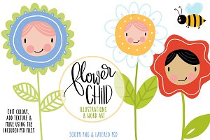 Flower Children Illustrations