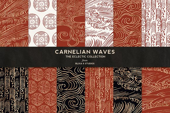 Carnelian Waves in Golden Foil