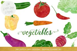 Vegetable & Produce Clipart Set