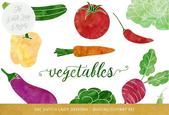 Vegetable Produce Clipart Set