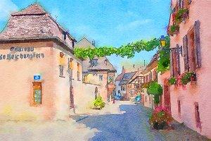 Riquewihr village in Alsace
