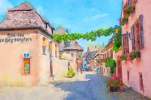 Riquewihr village in Alsace
