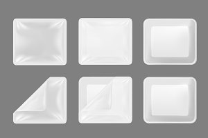 Plastic container, transparent lid