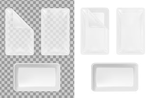 Transparent plastic container