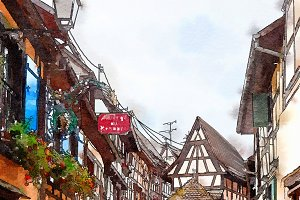 Equisheim  village in Alsace