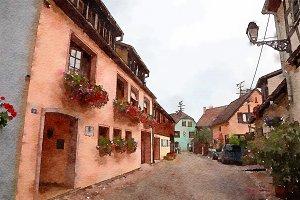Equisheim  village in Alsace