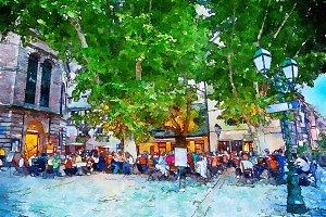 cafe square  in Strasbourg