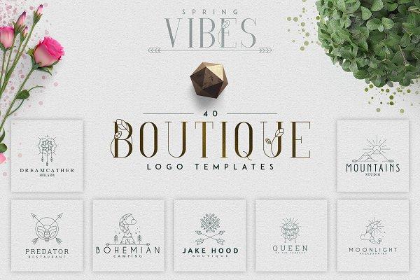 Logo Templates: Vladfedotovv - [Spring Vibes] 40 Boutique Logos-50%