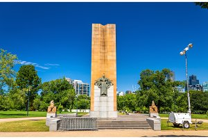 King George V Monument in Melbourne, Australia